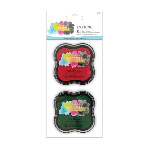 Dye Ink Pad (2pk) - Red and Green