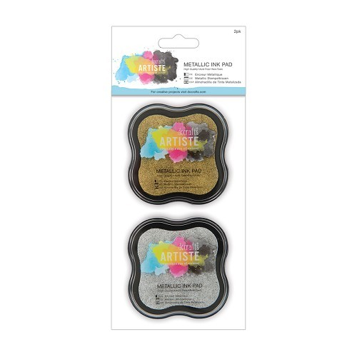 Metallic Ink Pad (2pk) - Metallic Gold and Silver