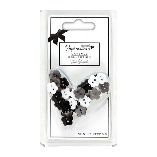 Capsule Daisy Mini Buttons - Bexley Black