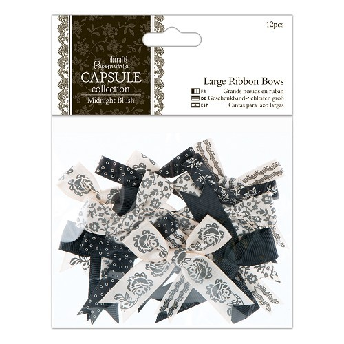 Large Ribbon Bows (12pcs) - Capsule Collection - Midnight Blush