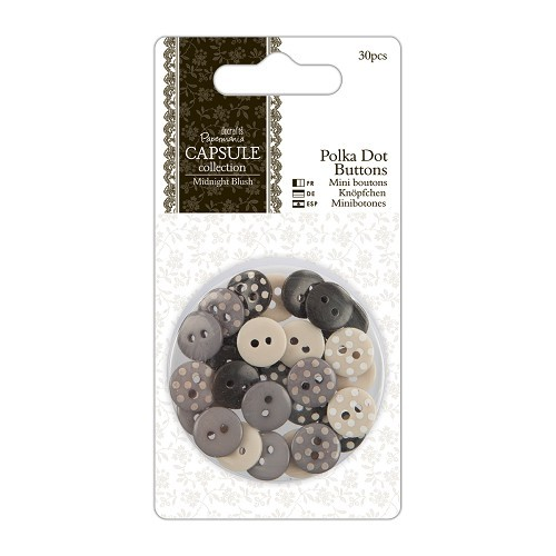 Polka Dot Buttons (30pcs) - Capsule Collection - Midnight Blush