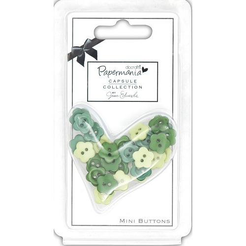 Capsule Daisy Mini Buttons - Chelsea green