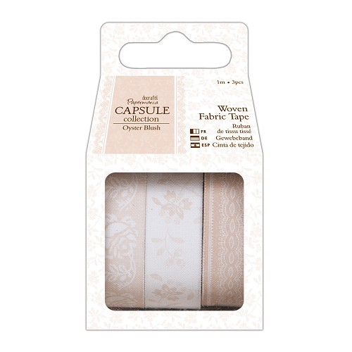 1m Fabric Tape (3pcs) - Capsule Collection - Oyster Blush