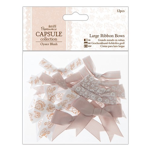Large Ribbon Bows (12pcs) - Capsule Collection - Oyster Blush
