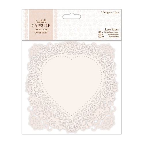 Lace Paper (12pcs) - Capsule Collection - Oyster Blush