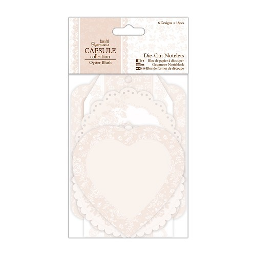 Die-cut Notelets (18pcs) - Capsule Collection - Oyster Blush