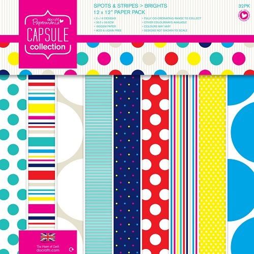 12 x 12 Paper Pack (32pk) - Capsule - Spots & Stripes Summer Bri