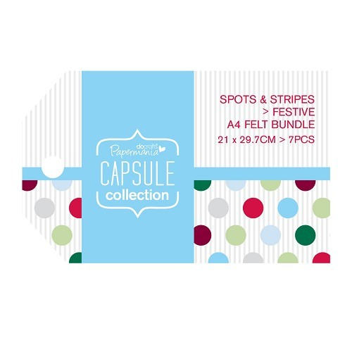 Felt Bundle (7pcs) - Capsule - Spots & Stripes Festive