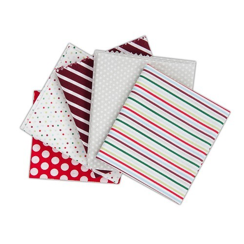 Fat Quarters (5pcs) - Capsule - Spots & Stripes Festive