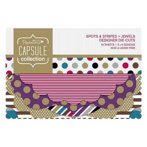 Designer Die-cuts (18pcs) - Capsule - Spots & Stripes Jewels