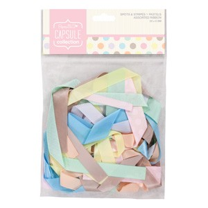 Assorted Ribbon (20pcs) - Spots & Stripes Pastels