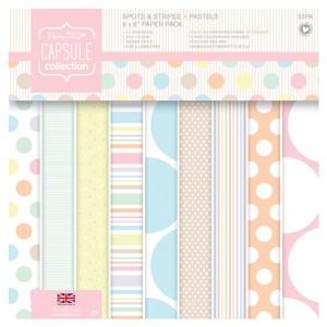 6 x 6 Paper Pack (32pk) - Spots & Stripes Pastels
