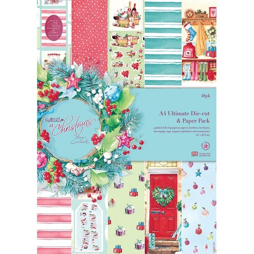 A4 Ultimate Die-cut & Paper Pack (48pk) - At Christmas Lucy Crom