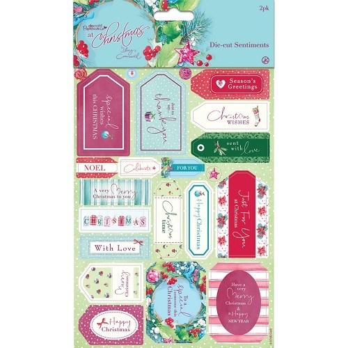 Die-cut Sentiments (2pk) - At Christmas Lucy Cromwell