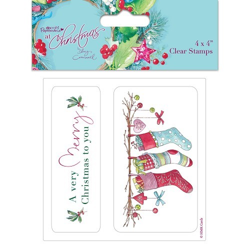 4 x 4`` Clear Stamps - Lucy Cromwell At Christmas - Stockings