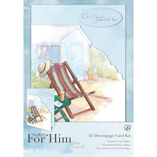 A5 Decoupage Card Kit - In The Garden