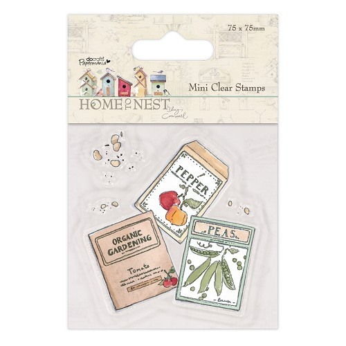 75 x 75mm Mini Clear Stamp - Home To Nest Lucy Cromwell - Seed P