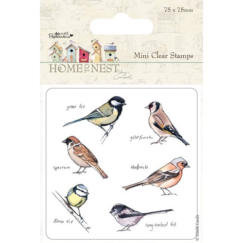 75 x 75mm Mini Clear Stamp - Home To Nest Lucy Cromwell - Birds