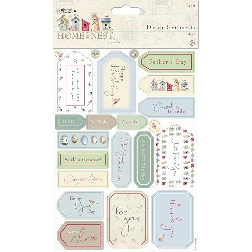 Die-cut Sentiments (2pk) - Home To Nest Lucy Cromwell