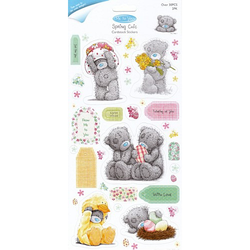 GLITTER CARDSTOCK STICKERS (2PK) - SPRING CHIC (CHARACTERS)