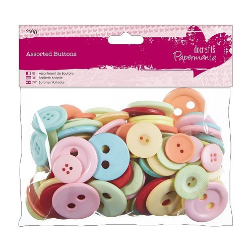 Assorted Buttons (250g) - Vintage
