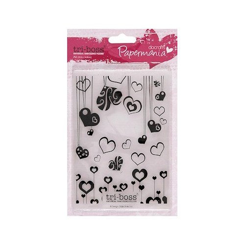 DC Embossing folder A6 heart attack #JAN