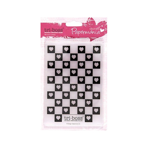 DC Embossing folder A6 check mate #JAN