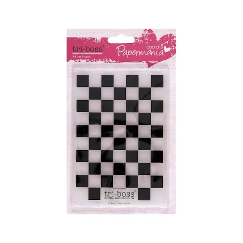 DC Embossing folder A6 chequered #JAN
