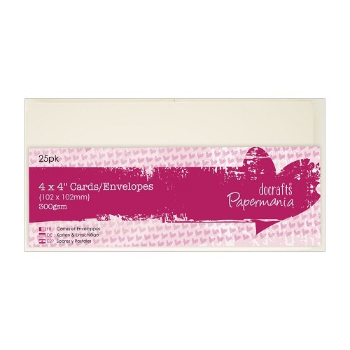 4 x 4 Cards/Envelopes (25pk) - Cream