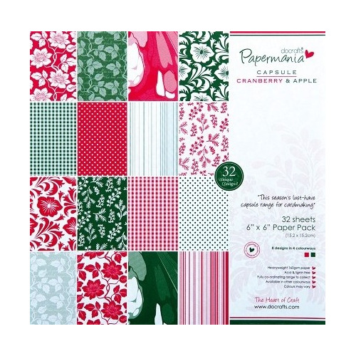 6x6 Capsule Paper Pack - Cranberry & Apple