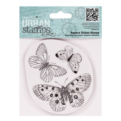4 x 4 Urban Stamp - Butterflies