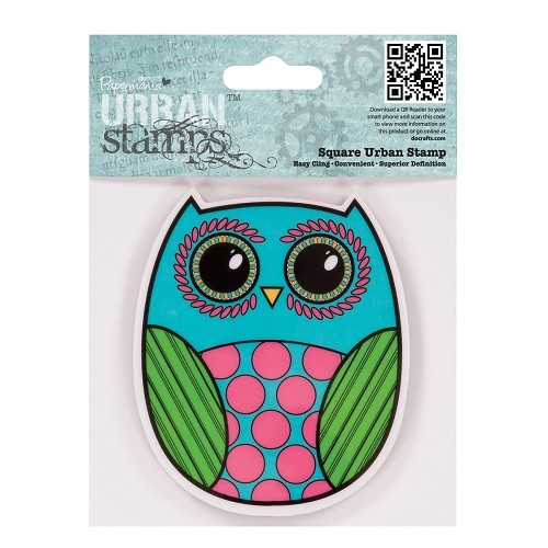 4 x 4 Urban Stamp - Owl