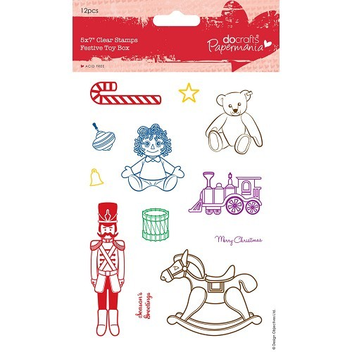 5 x 7 Clear Stamps - Festive Toy Box