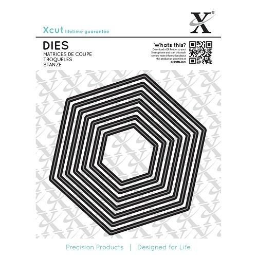 Dies (7pcs) - Tilly Daydream - Nesting Hexagons