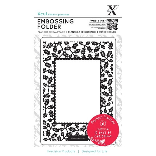 A6 Embossing Folder - 12 Days of Christmas - Holly