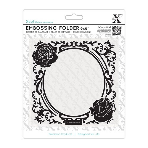 6 x 6'' Embossing folder - Rose Frame