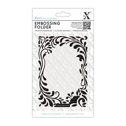 A6 Embossing Folder - Floral Curls