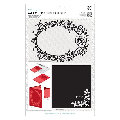 A4 Embossing Folder - Rose Frame