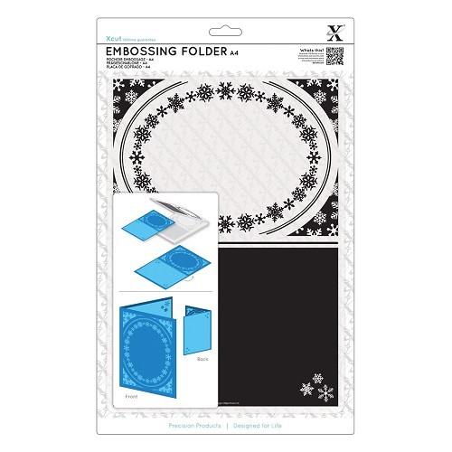 A4 Embossing Folder - Snowflake Frame