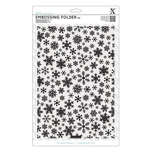 A4 Embossing Folder - Snowflake Pattern