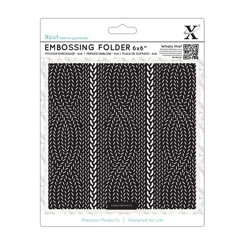 6 x 6 Embossing Folder - Cable Knit Pattern