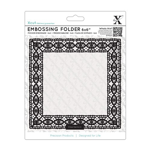 6 x 6 Embossing Folder - Lace Frame Square