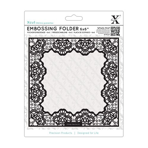 6 x 6 Embossing Folder - Lace Frame Delicate