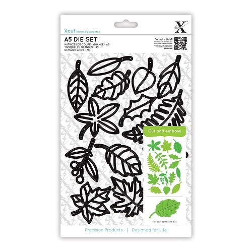 A5 Die Set (14pcs) - Leaves