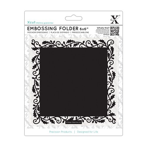 6 x 6 Embossing Folder - Oak Border