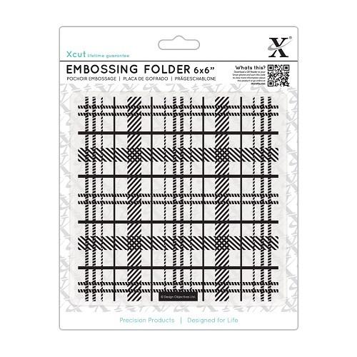 6 x 6`` Embossing Folder - Tartan