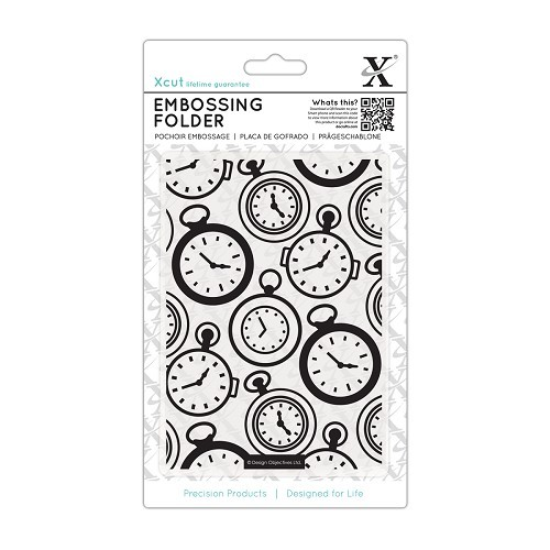 A6 Embossing Folder - Pocket Watch
