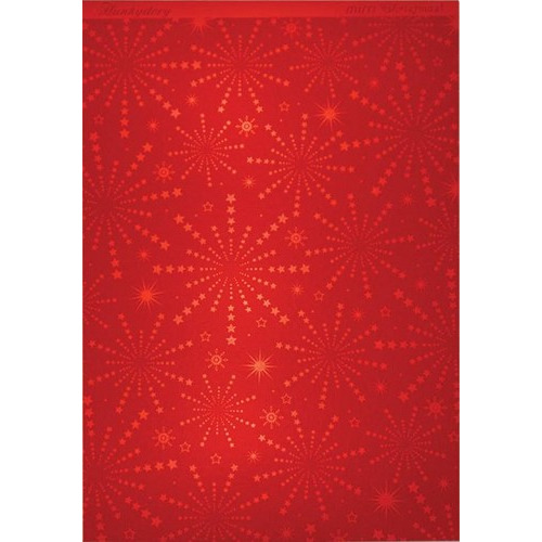 Hunkydory Christmas Mirri Card - Stunning Starburst - Red A4