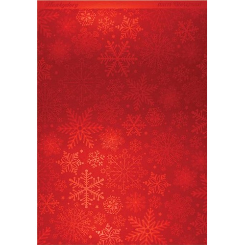 Hunkydory Christmas Mirri Card - Stylish Snowflakes - Red A4