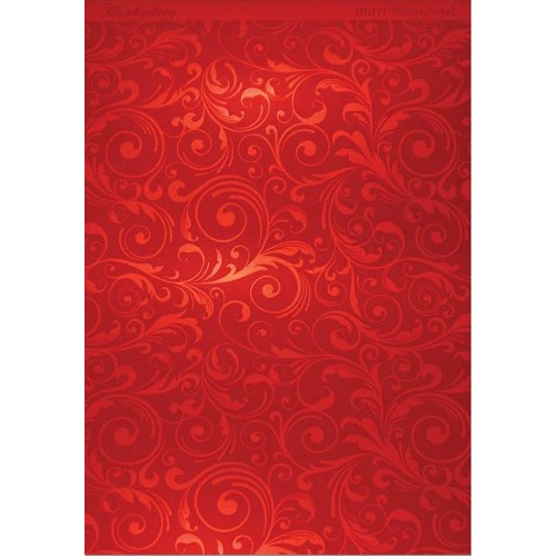 Hunkydory Christmas Mirri Card - Flourishing Swirls - Red A4